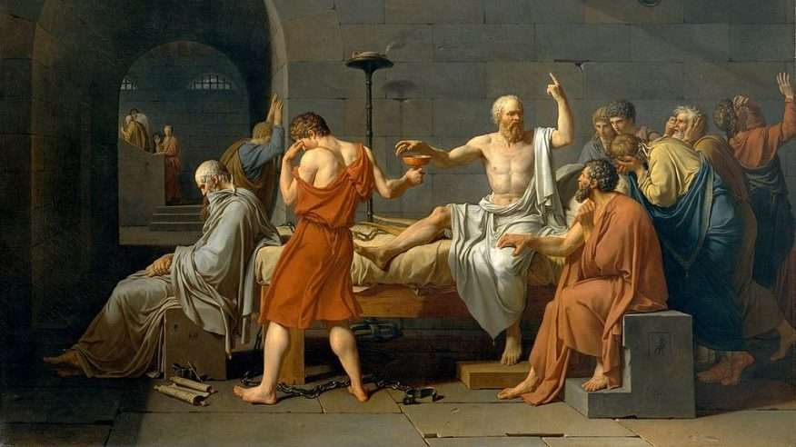 The Death of Socrates Artist:Jacques Louis David (French, Paris 1748–1825 Brussels) Date:1787 Medium:Oil on canvas. - Liberal Arts Education and Philosophy
