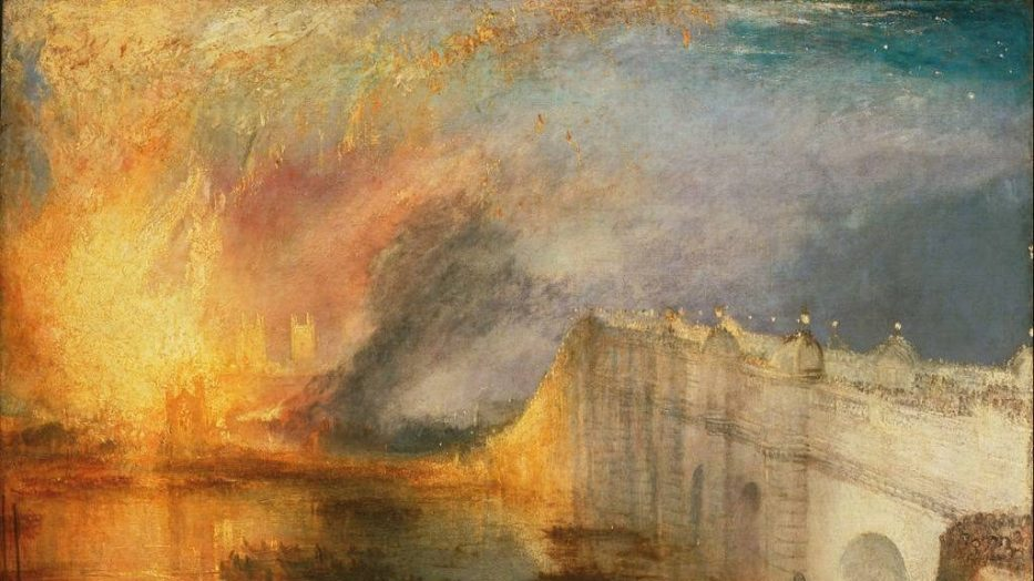 J.M.W. Turner - The Burning of the Houses of Parliament. Liberal Arts and Learning