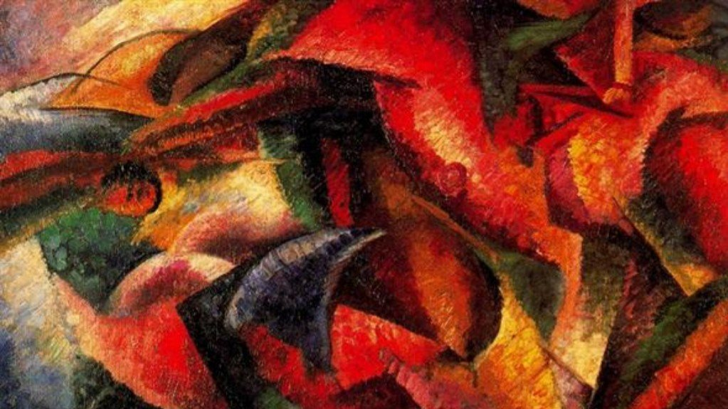 Dynamism of a Human Body, Umberto Boccioni, Date: 1913 Style: Futurism, Genre: abstract, Media: oil, canvas